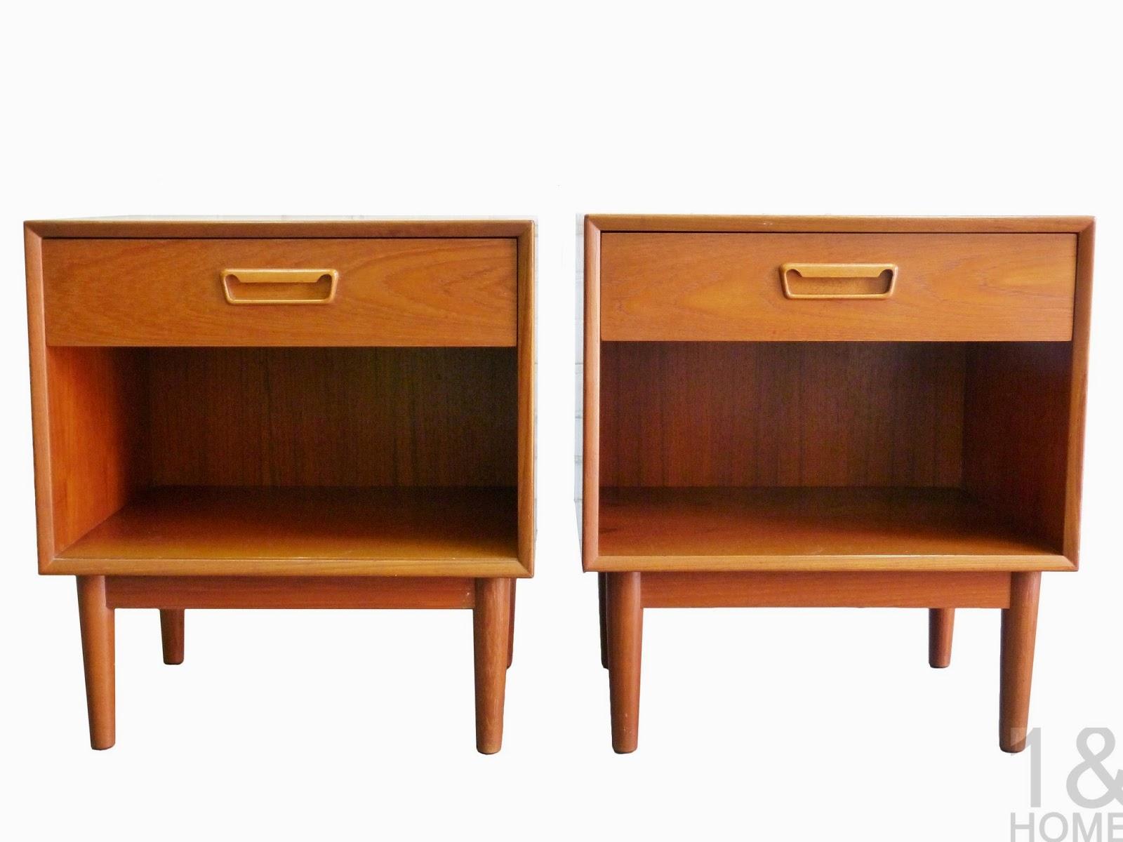 Westnofa Danish Modern Mid-Century pair of Nightstands