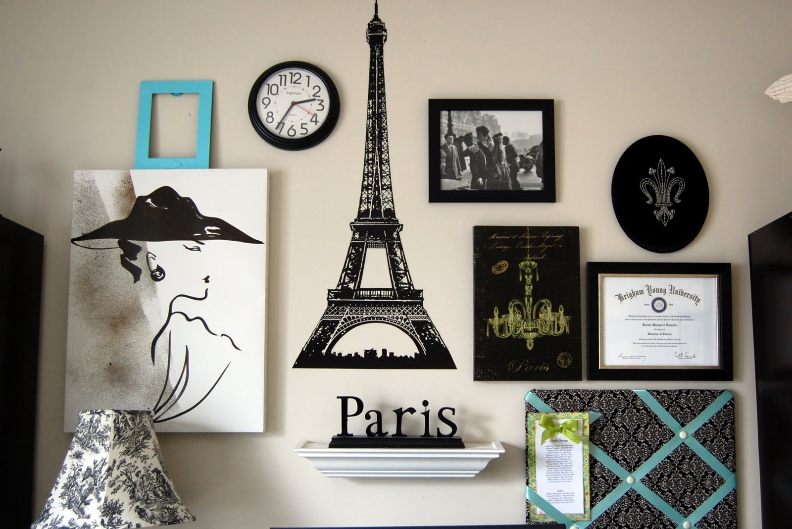 Family ever after paris gallery wall for Room decor ideas paris