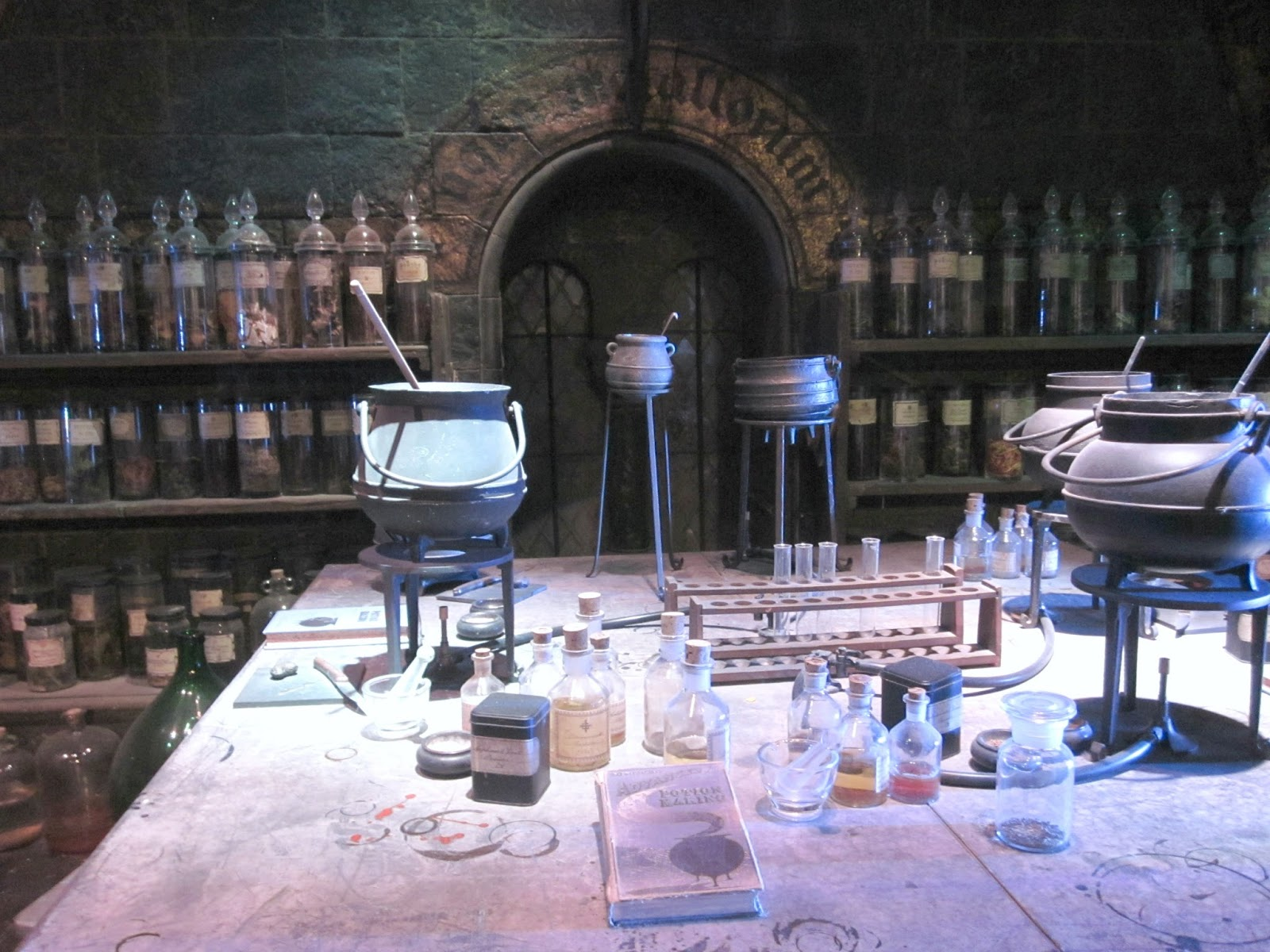 The Potions Classroom Dungeon at The Making Of Harry Potter Warner Brothers Studio Tour