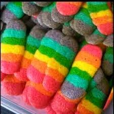 Resep Membuat Kue Kering Lidah Kucing Rainbow yang GAMPANG