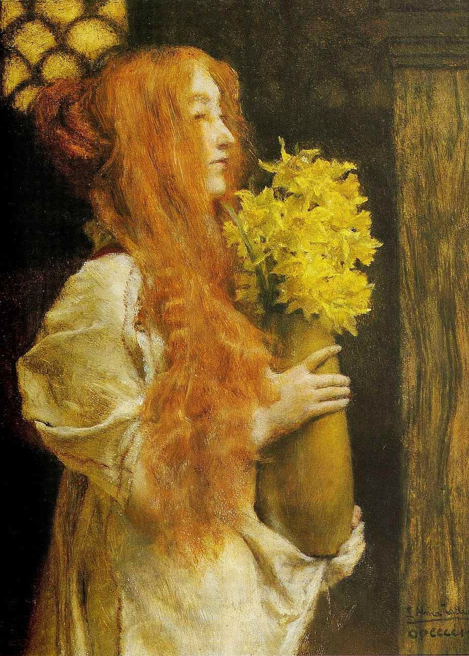 alma-tadema spring flowers