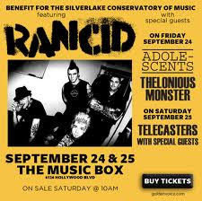Rancid Concert Flyer