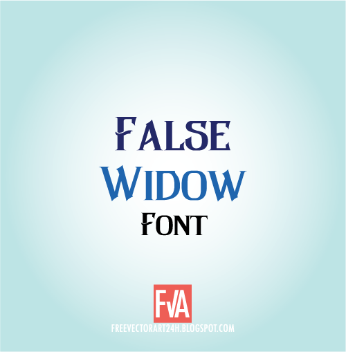 False-Widow-font