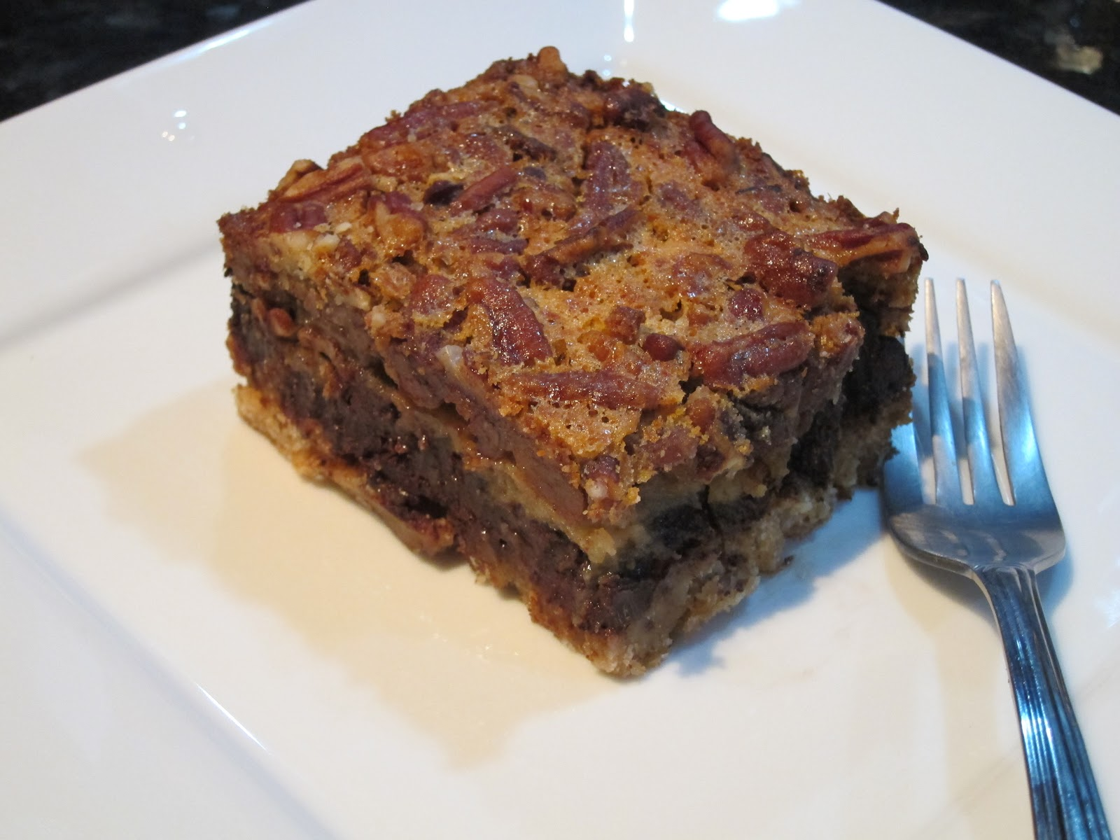 Chocolate Pecan Pie Bars | Great Without Gluten