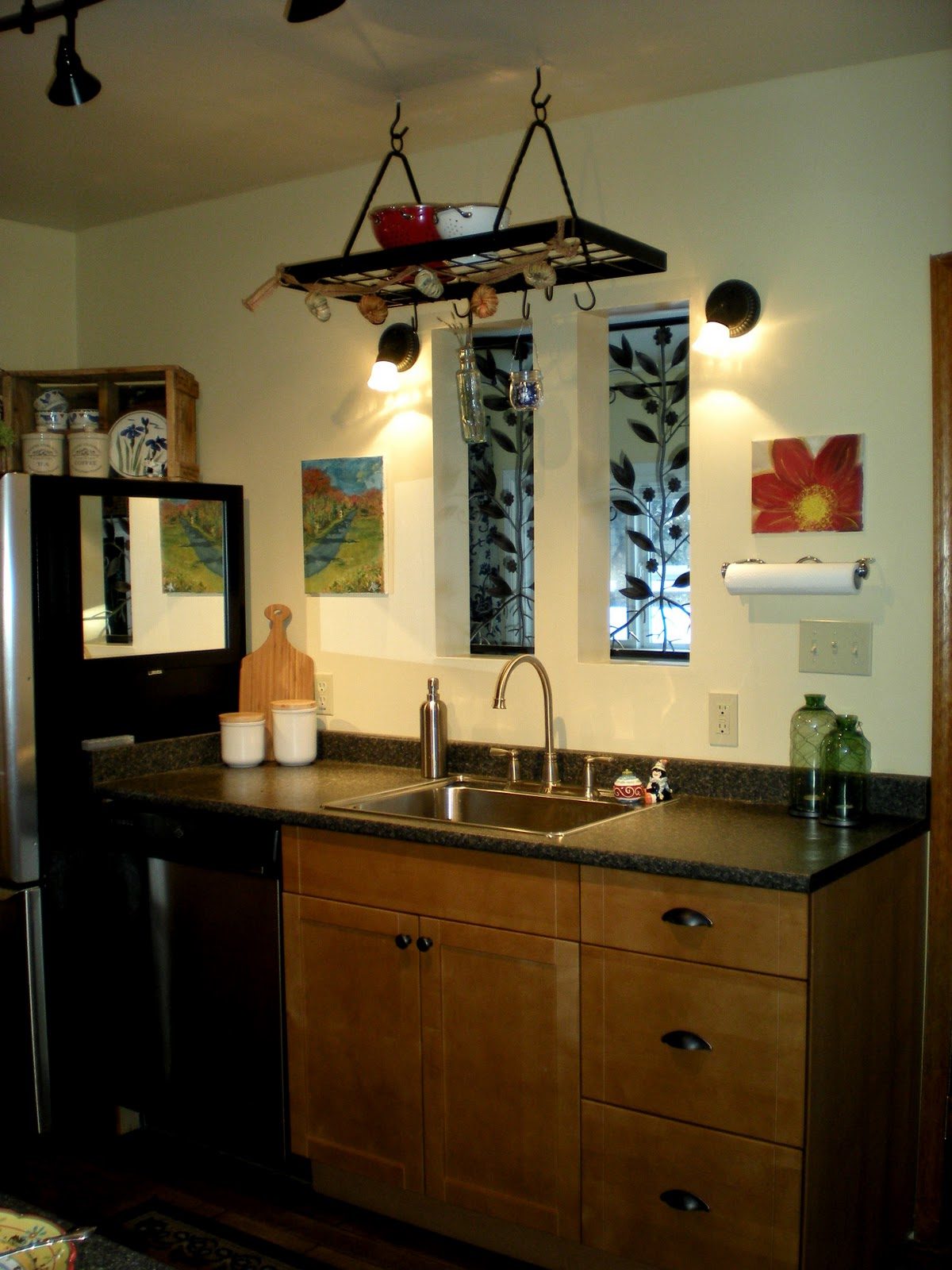 S Cottage Industrial Style Home Tour Debbiedoos - 1930's kitchen light fixtures