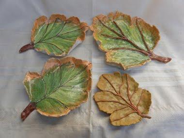 Conjunto bandejas hojas de otoño