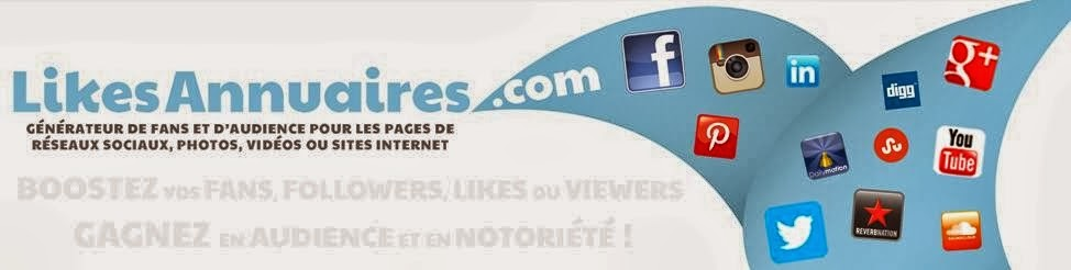 Like Facebook Page, followers Twitter, abonnés YouTube, Soundcloud