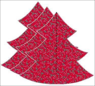 la otra ordenadamente verdes arriba y rojos abajo o viceversa y hacer un costura en el medio dejando 3 cm sin costura en la parte inferior del rbol - Arbol De Navidad De Tela