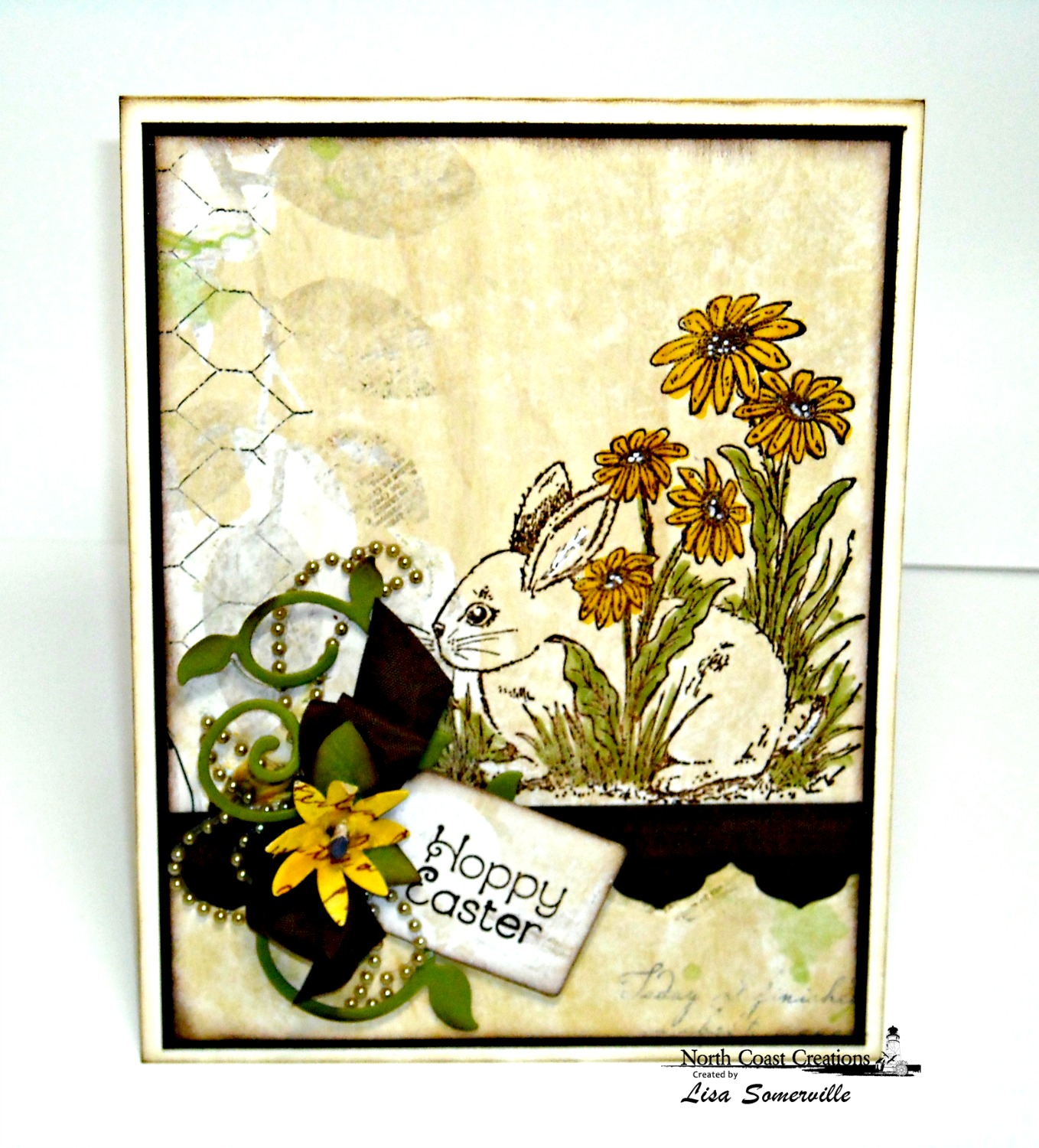 Stamps - North Coast Creations Hoppy Easter, ODBD Custom Custom Recipe Card and Tags Dies, ODBD Custom Antique Labels and Border Dies, , ODBD Custom Fancy Foliage Die