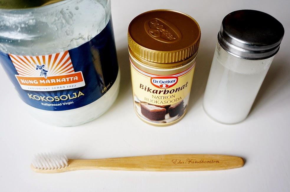 kokosolja och bikarbonat