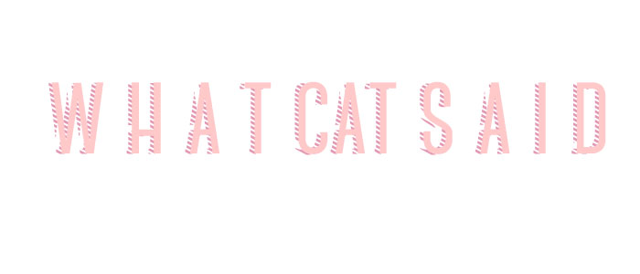 whatcatsaid