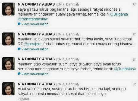 Isi Twitter Nia Daniati