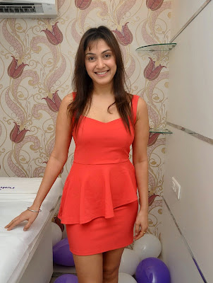 Manjari+(28) Manjari Phadnis Super Hot Photos in Red Dress At The Launch Of Naturals Family Salon & Spa
