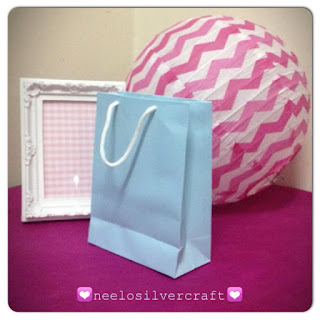 baby blue paperbag