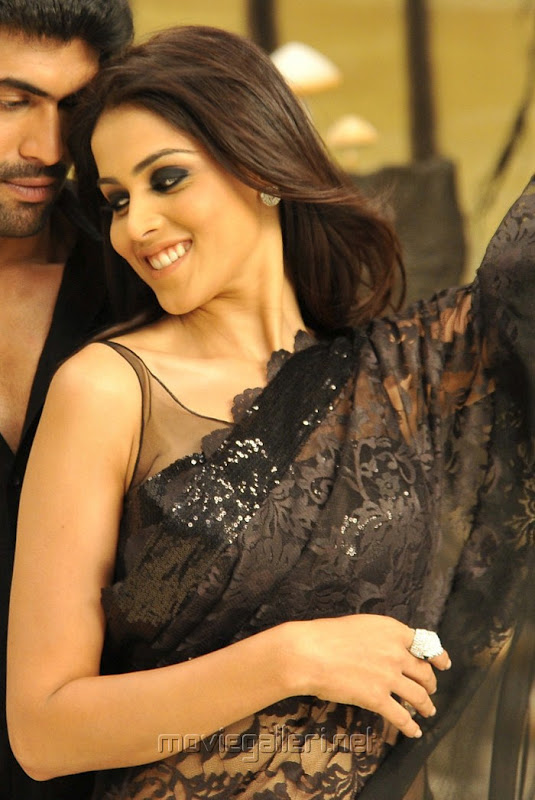 Genelia Dsouza in black saree - Genelia D'Souza in Black Saree Hot Pics