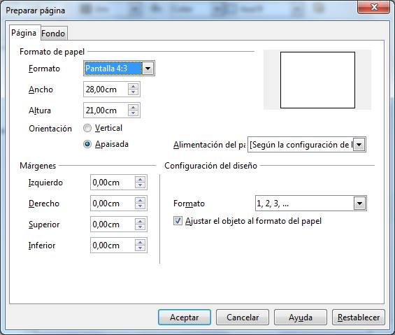 LibreOffice Impress - Formato de página | Aplicaciones de Libre Uso
