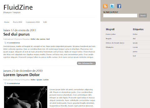 Fluidzine Blogger Theme