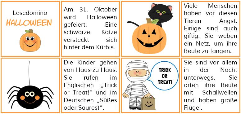 Mrs. Sandy: Lesedomino Halloween