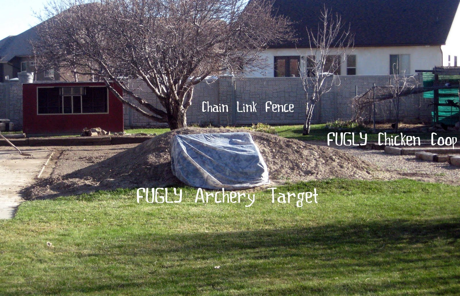 Small Backyard Archery Range : In a recent post I showed you a small part of the yard with all of the
