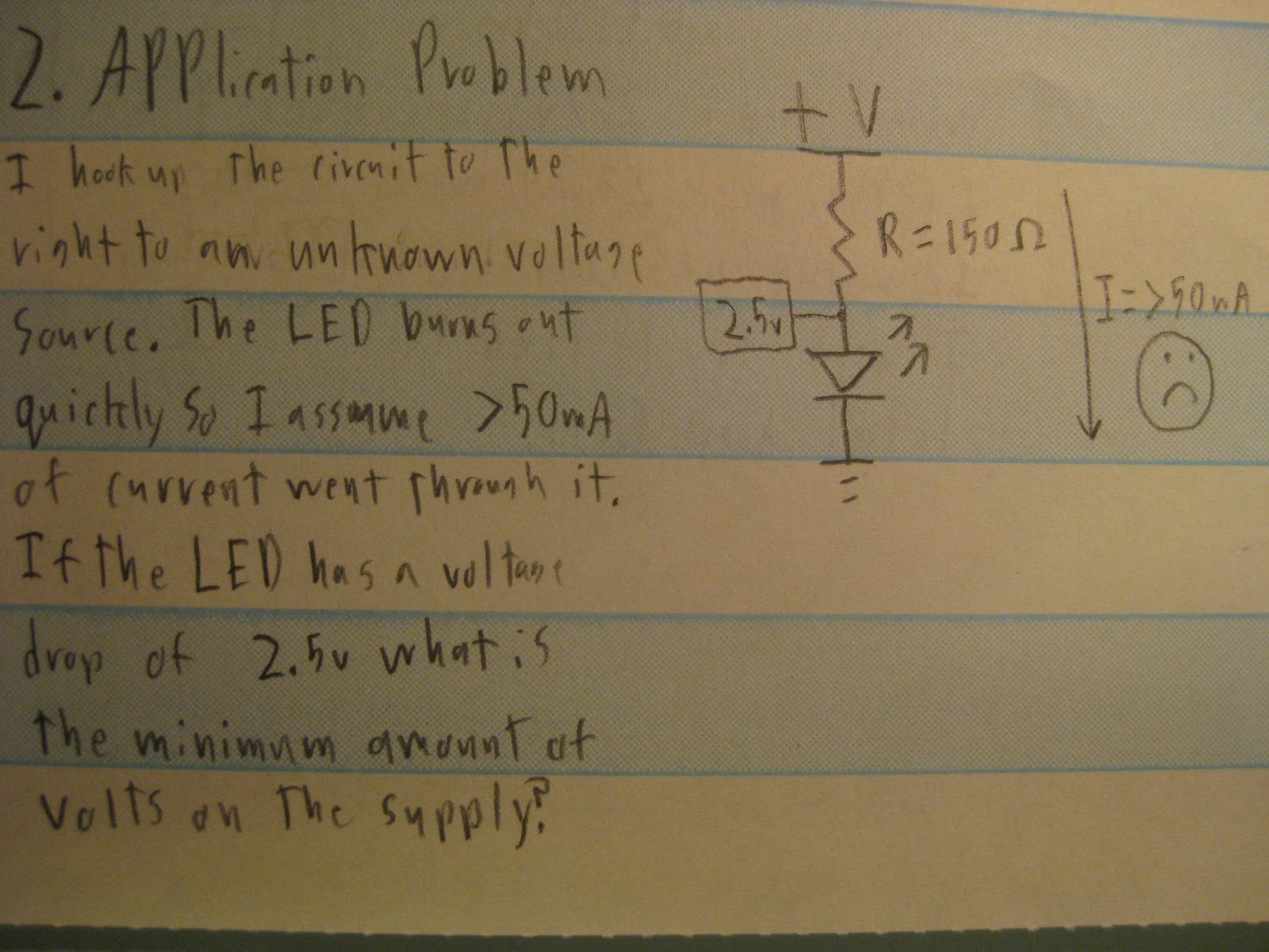 ohms law This is called ohm's law let's say, for example, that we have a circuit with the potential of 1 volt, a current of 1 amp, and resistance of 1 ohm using ohm's law we can say: let's say this represents our tank with a wide hose the amount of water in the tank is defined as 1 volt and the.
