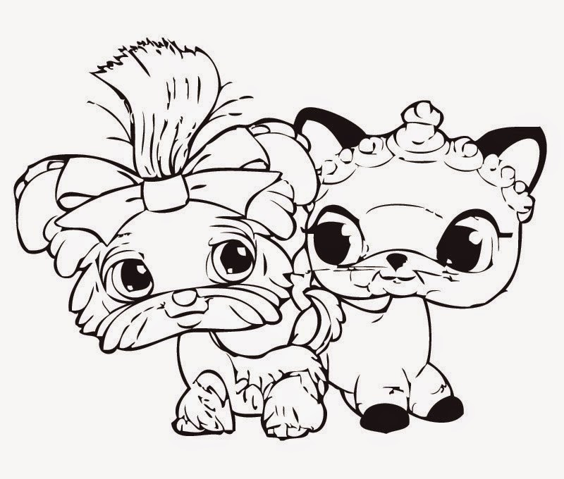 lps coloring pages kitten - photo#25