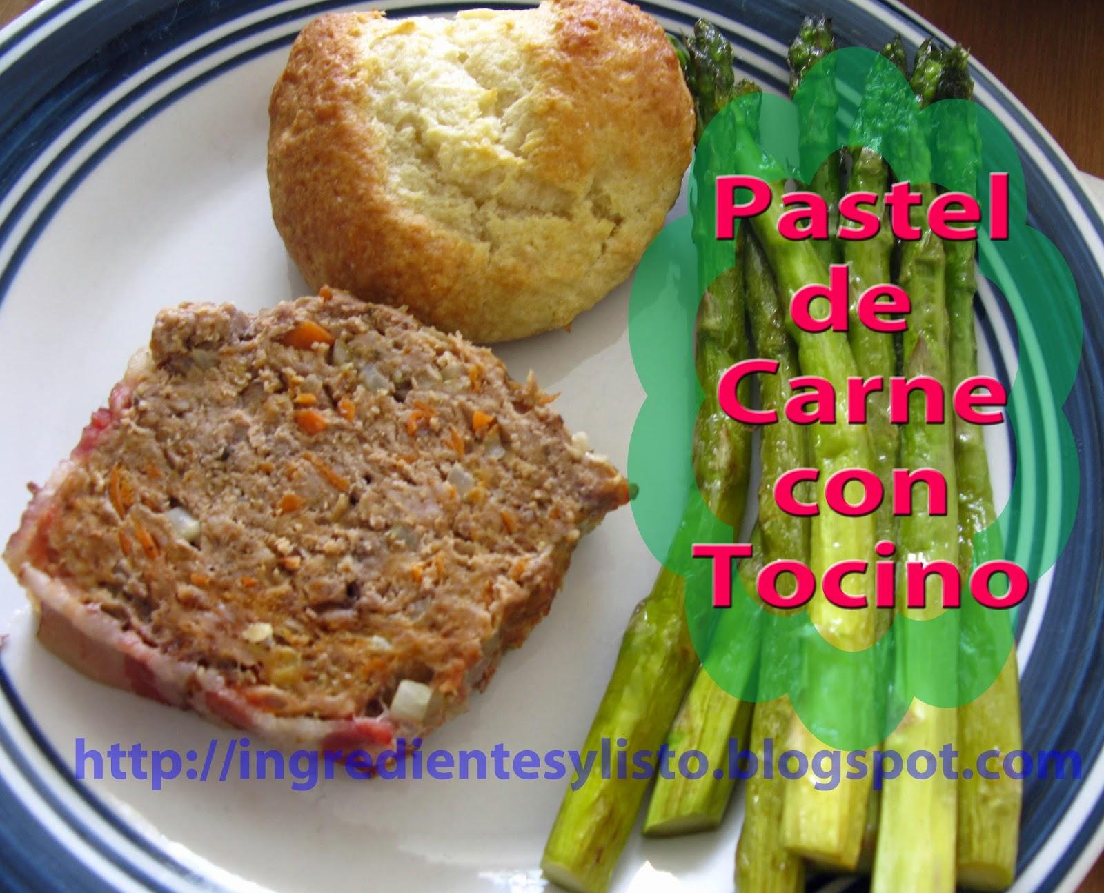 Pastel De Carne Con Tocino