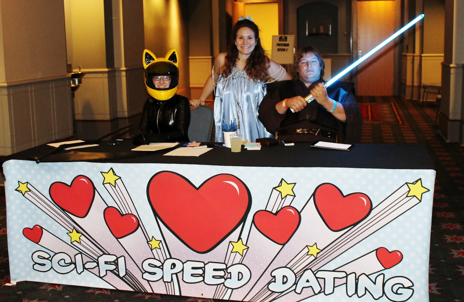Sci-fi speed dating weren't given a reason