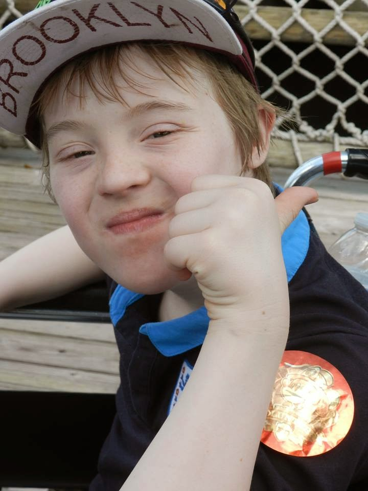 Kyd, happy, Down Syndrome, thumbs up, my life my son my way,