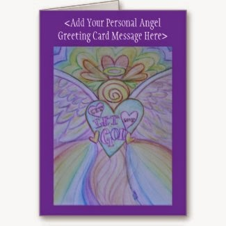 Let Love Let God Angel Custom Greeting Cards