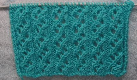 knitting galore saturday stitch waterfall stitch