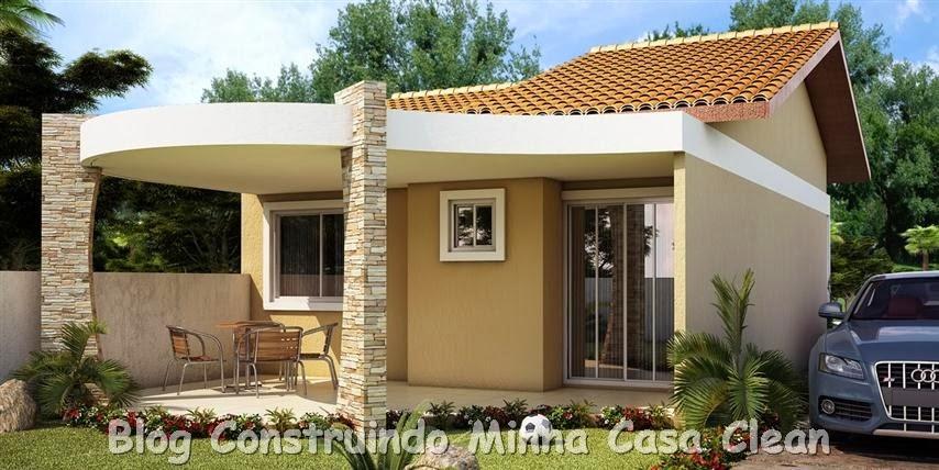 Construindo minha casa clean 20 fachadas de casas - Casas super pequenas ...