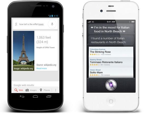 VOice search 4.1 vs Siri iOS 6