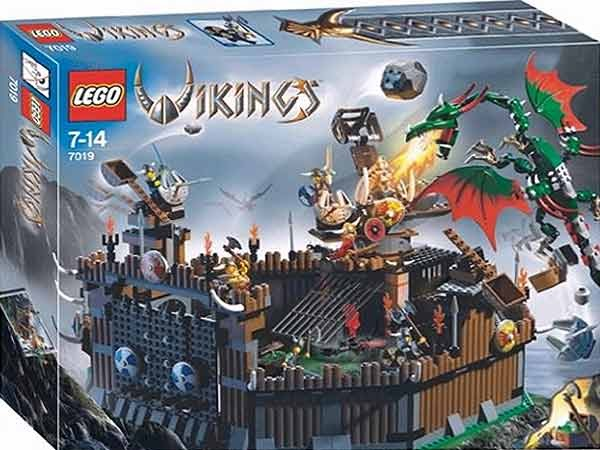 Lego Viking Fortress Against The Fafnir Dragon And Castle