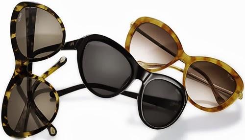 óculos de sol H. Stern modelo gatinho preto ou marrom