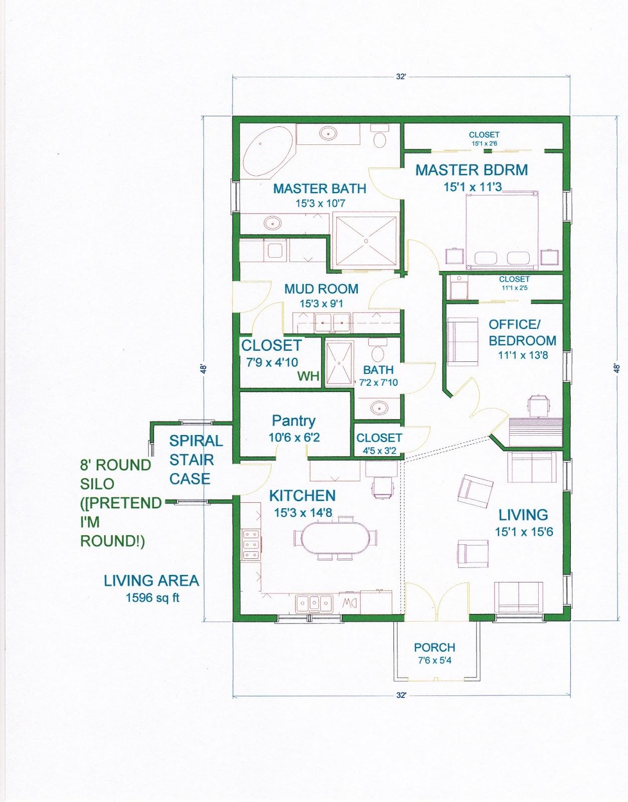 Grama sue 39 s floor plan play land smaller gambrel barn for Gambrel barn house floor plans