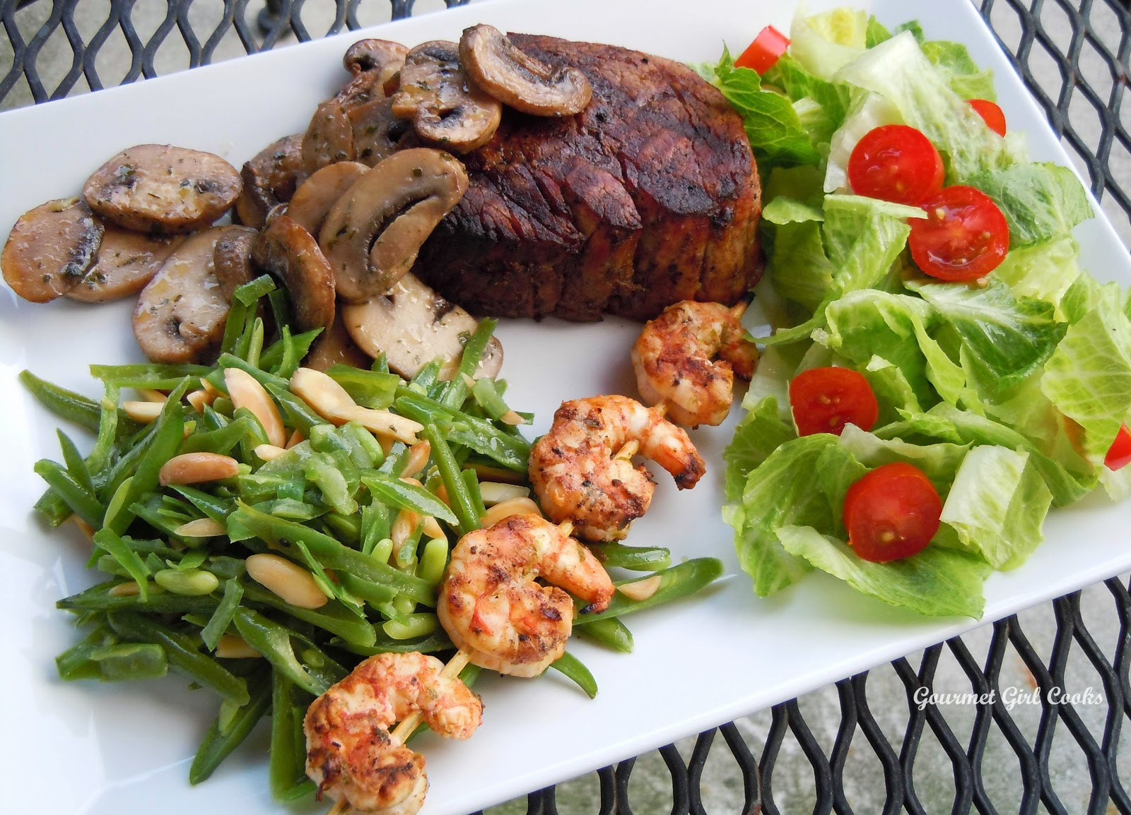 Surf And Turf Dinner Party Ideas Part - 34: Happy Fatheru0027s Day -- Surf U0026 Turf Dinner (Filet Mignon U0026 Chipotle Lime  Shrimp Kabobs)