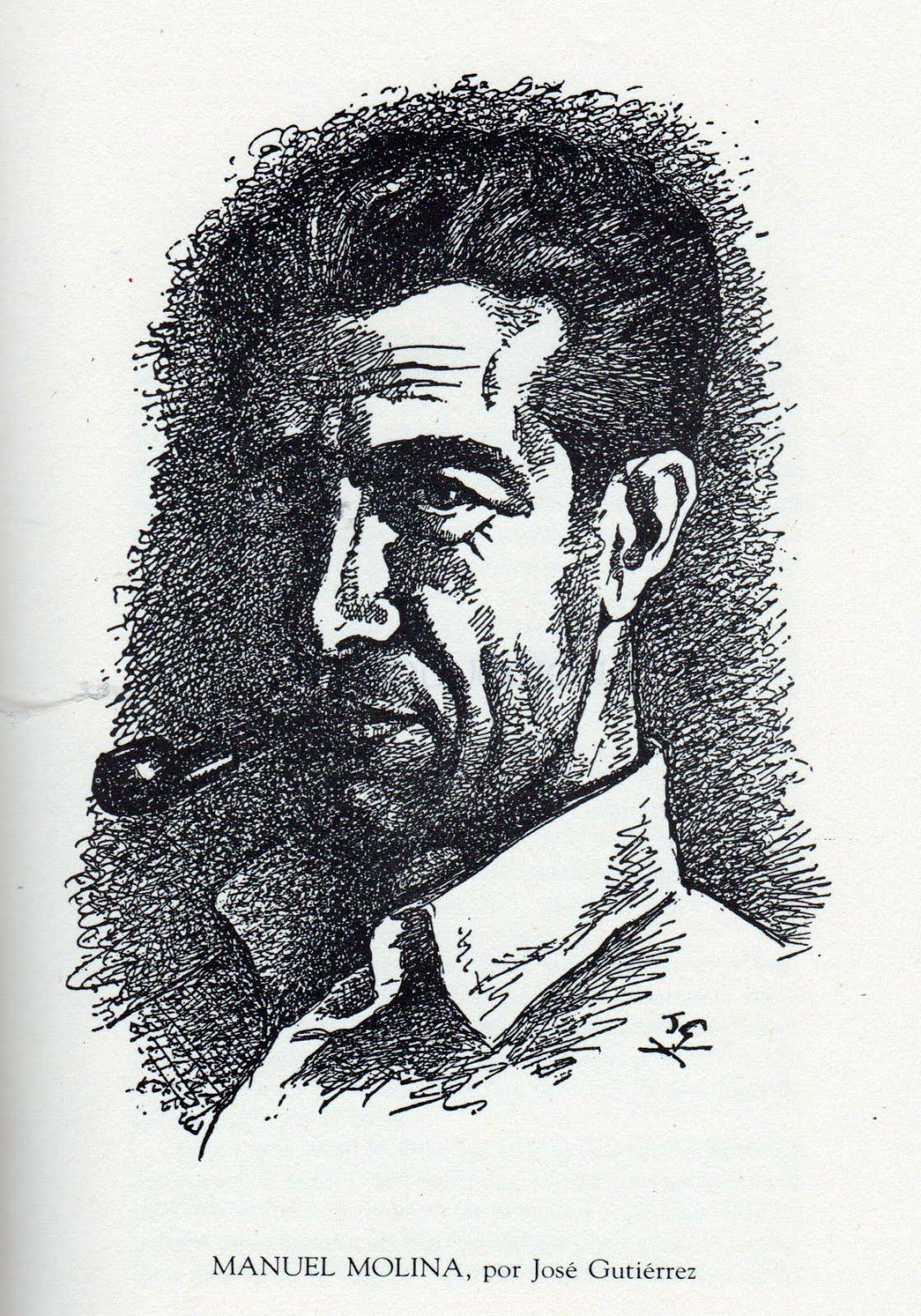 Retrato de Manuel Molina con pipa