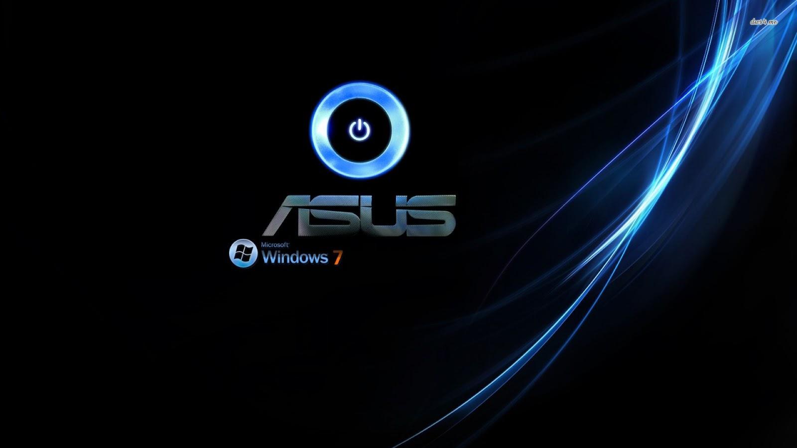 Asus Windows 7 Computer Logo Dark Black HD Wallpaper Desktop PC Background A14
