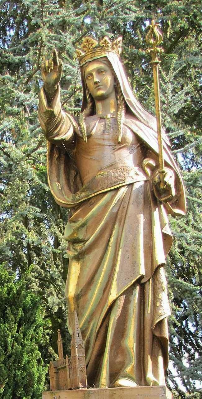 Santa Adelaide, estátua em Seltz, Alsácia