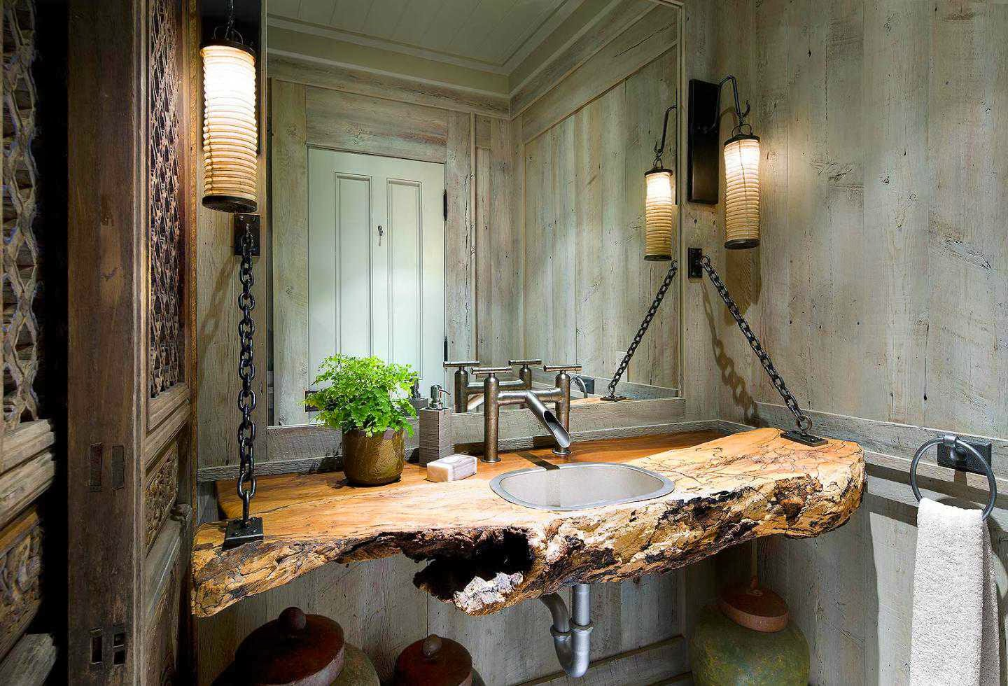 Wood Bathroom Countertops with Sinks
