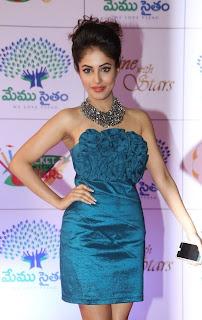Priya Banerjee Picture Gallery in Short Dress at Memu Saitam Dinner with Stars Red Carpet