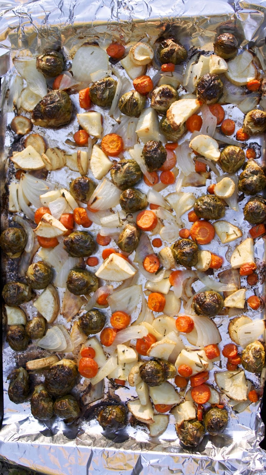Beer & Butter Roasted Vegetables- simplelivingeating.com