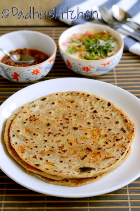 Vegetable Paratha Recipe-Mixed Veg Paratha-Vegetable Stuffed Paratha ...
