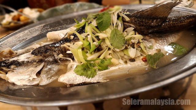 Thai Steam Fish with Lime Juice and Garlic