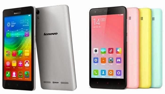 HP 4G Murah Terbaik - Lenovo A6000 vs Xiaomi Redmi 2
