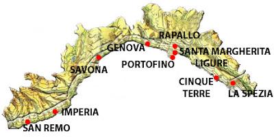 Cartina Politica della Liguria