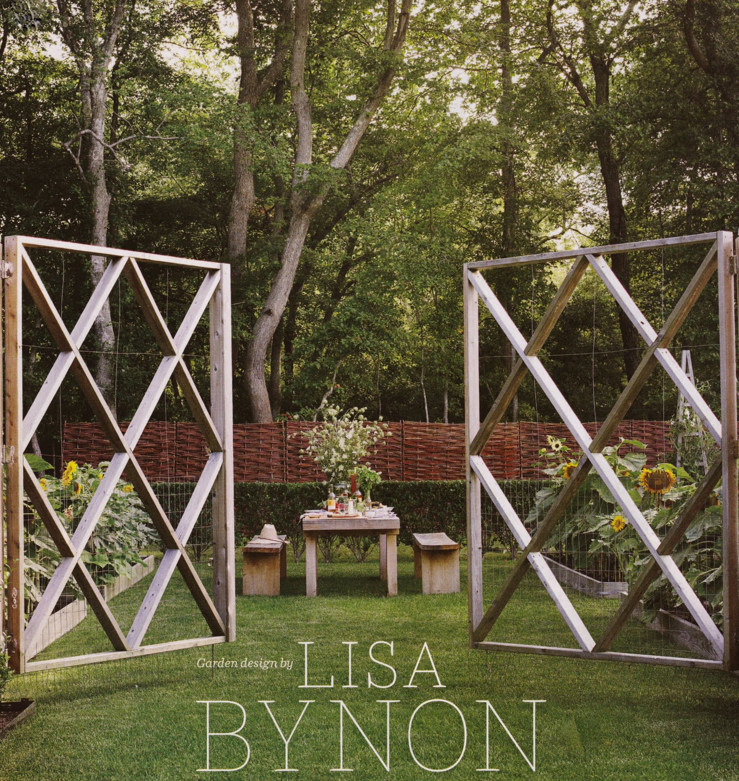 Northeast Locavore: Lisa Bynon\'s beautiful garden gates