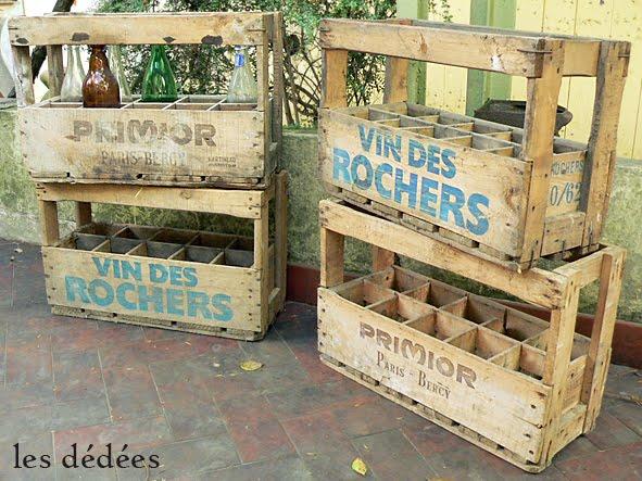 Les Dedees Vintage Recup Creations Les Casiers Du Caviste By Kate