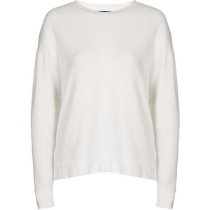 Topshop Petite Brushed Sweat in White