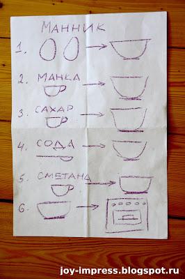 рецепт манника для детей